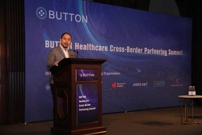 Mr. Shutian Liu (Co-founder of BUTTON) gave the speech.